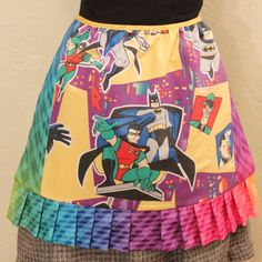 Childhood memories are the best! This apron features Batman and Robin along with a few villains on the front! I made this awesome apron using a The Little Mermaid, My Little Pony, Generation Gap, Pound Puppies, Custom Aprons, Duck Tales, Cabbage Patch Kids, Vintage Sheets, Childhood Memories