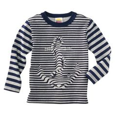 Harajuku Mini for Target® Toddler Boys' Long-Sleeve Stripe Anchor Tee - Navy