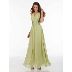 Light Olive Beach V Neck Chiffon Bridesmaid Dresses Keyhole Back Handmade Flower Prom Homecoming Graduation Formal Gowns Ankle Length 22593 Online with $86.13/Piece on Faithfully2's Store | DHgate.com