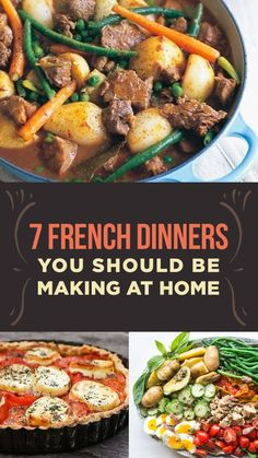 7 French Dinners You Should Be Making At Home There's way more to French cuisine than beef bourguignon and coq au vin. French Recipes Dinner, French Dinner Parties, French Cooking Recipes, Easy French Recipes, French Dinner Menu, Fancy Dinner Recipes, Dinner Ideas, Beef Bourguignon, Mexican Food Recipes