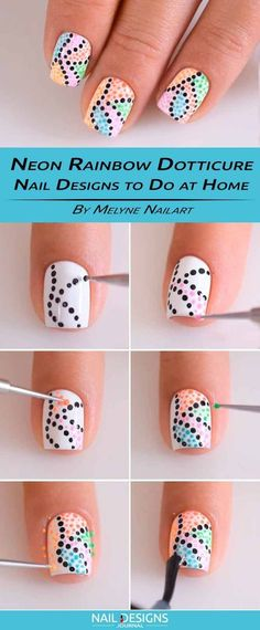 There are three kinds of fake nails which all come from the family of plastics. Acrylic nails are a liquid and powder mix. They are mixed in front of you and then they are brushed onto your nails and shaped. These nails are air dried. Nail Art Diy, Easy Nail Art, Dot Nail Art, Simple Nail Designs, Nail Art Designs, Nails Design, Diy Nail Designs Step By Step, Design Art, Girls Nail Designs