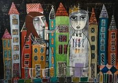 "Saatchi Art Artist Eleni Koritou; Painting, ""Night games"" #art"
