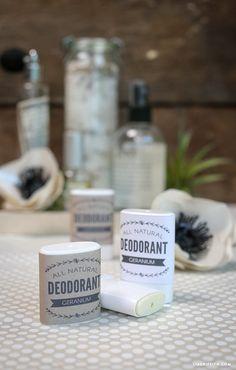 Homemade All Natural Deodorant Recipe