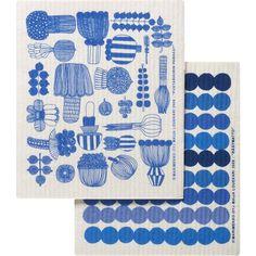 Crate & Barrel Set of 2 Marimekko Puutarhurin Parhaat and Räsymatto... ($14) ❤ liked on Polyvore
