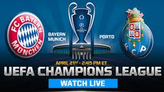 Bayern Munich Vs FC Porto Live Soccer, Fc Porto, Uefa Champions League, Sport Watches, Munich, Bavaria, Monaco