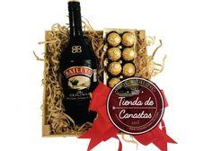 Tienda de Canastas: Huacal Baileys & Ferreros ca-019 - Kichink El regalo perfecto y delicioso!!! #christmas #arcones #navideños #canastas #navideñas #regalos #gifts #buen #fin #cute #nice #regalo #jefe #mujer