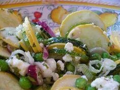 the parsley thief: Summer Squash Salad Food Dishes, Main Dishes, Side Dishes, Summer Squash Salad, Easy Mug Cake, Savory Salads, Wonderful Recipe, Looks Yummy, Yummy Food