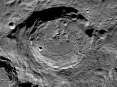 The 91-km Karpinskiy Crater from the new interactive north pole mosaic. See image below for a zoomed-in view. Credit: NASA