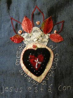 Sacred Heart of Jesus Embroidery Applique Day 4 EXPLORED | Flickr - Photo Sharing!