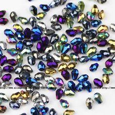 JHNBY Waterdrop Faceted Austrian crystal beads 4*6mm 100pcs Teardrop glass Loose bead for jewelry making bracelet accessoriesDIY
