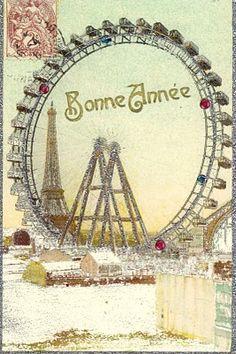Bonne année - Paris Tour Eiffel