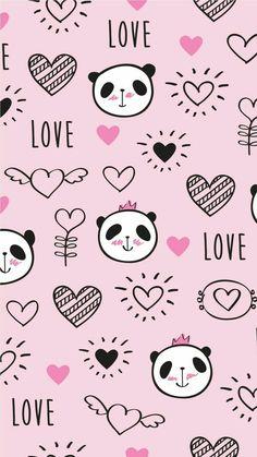 Panda Wallpaper Iphone, Cute Panda Wallpaper, Panda Wallpapers, Bear Wallpaper, Emoji Wallpaper, Tumblr Wallpaper, Pastel Wallpaper, Kawaii Wallpaper, Cute Wallpaper Backgrounds