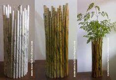 Resultado de imagem para como fazer vasos de material reciclável com madeira