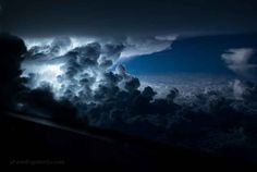pilot captures photos of storms from his cockpit