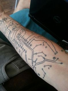 circuit board tattoo | tattoos | Pinterest | Tattoo and Search