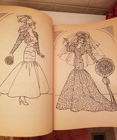 BARBIE Coloring Book 1990 Vintage GOLDEN Wedding Bridal Unused O 1799
