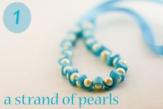 tutorial for a ribboned strand of pearls must try! find #diyjewelrysupplies at www.eCrafty.com