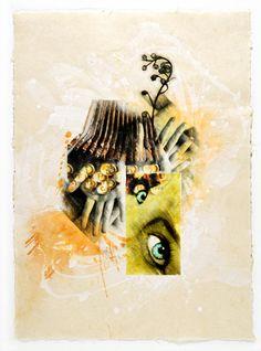 Eyes - acrylic on paper - 60x40cm