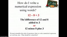 Writing and Interpreting Numerical Expressions, 5.OA.2
