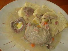 Vyborne na nedelny obed.                                        Ingrediencie hovadzie maso nakrajane na platky (8ks) olej sol, korenie horcica platky…... Pork, Meat, Chicken, Kale Stir Fry, Pork Chops, Cubs