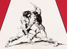 Conan versus Tarzan by John Buscema