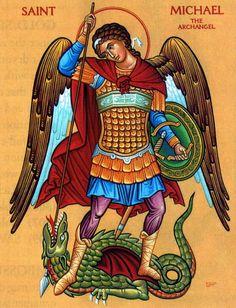 Religious Icons, Religious Art, St Michael Prayer, Saint Michael, Archangel Michael Tattoo, Angel Hierarchy, Monastery Icons, Greek Icons, Gravure Illustration