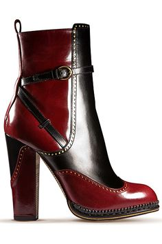 John Galliano - Women s Shoes - 2012 Pre-Fall Exzentrisch, Oxford Stiefel,  Frauenschuhe ffad8ec78c