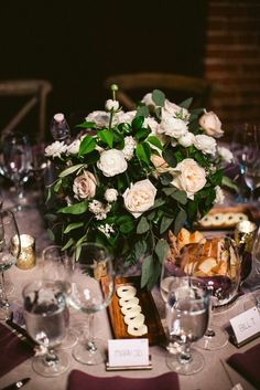 Ultra Romantic Los Angeles Wedding from Stacey Lynn Designs at the Carondelet House - wedding centerpiece idea