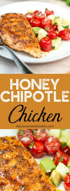 Easy Honey Chipotle Chicken tossed in a sweet and spicy honey chipotle sauce that is to die for! Easy Honey Chipotle Chicken tossed in a sweet and spicy honey chipotle sauce that is to die for! Entree Recipes, Spicy Recipes, Dinner Recipes, Healthy Recipes, Delicious Recipes, Dinner Ideas, Honey Recipes, Lunch Ideas, Healthy Meals