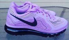 Nike Air Max 2014 Running Shoes 621078 502 PurpleBlack Womens size 6 new #Nike #RunningCrossTraining