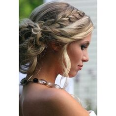 Braid Updo Hair Styles for Wedding, Prom ❤ liked on Polyvore featuring hair