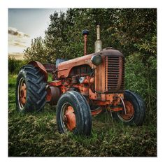 Shop Vintage old red tractor jigsaw puzzle created by RedSamurais. Antique Tractors, Vintage Tractors, Vintage Farm, Vintage Trucks, Vintage Shops, Case Tractors, Farmall Tractors, Tractor Pictures, Farm Day