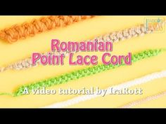 Romanian Point Lace Crochet Cord Tutorial and Free Bracelet Pattern by IraRott