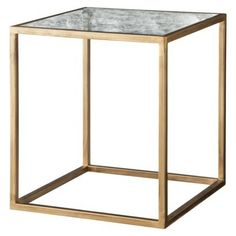 Nate Berkus™ Accent Table - Gold and Antiqued Glass