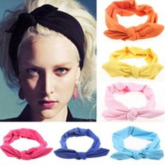 Cheap fashion hair accessories, Buy Quality hair accessories directly from China accessories fashion Suppliers: 1 pc Women Fashion Elastic Stretch Plain Rabbit Bow Style Hair Band Headband Turban HairBand hair accessories Hair Accessories For Women, Clothes For Women, Bump Hairstyles, Designer Headbands, Hair Braider, Braids With Weave, Weave Braid, Sexy Party Dress, Party Dresses