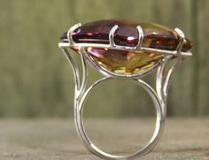 RESERVED LISTING for April. Ametrine Ring by BendTheFish on Etsy