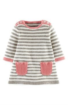 Mini Boden 'Stripy' Knit Dress (Baby Girls) available at #Nordstrom
