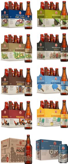 Brand New: New Packaging for New Belgium by Hatch Design