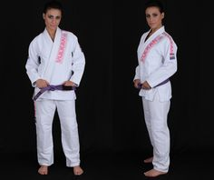 NEW Women's PRO Light Jiu Jitsu Gi, WHITE w/ PINK Patches #33201 : Women's Jiu Jitsu Gi : VulkanStore.com