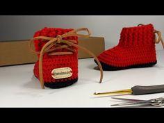 Crochet Bebe, Crochet Baby Booties, Baby Shoes Tutorial, 5 Babies, Baby Slippers, Baby Winter, Tutorial Crochet, Baby Knitting, Free Pattern