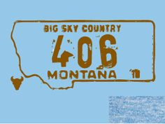 On a t-shirt from Zoo City Apparel in Missoula. I ordered one in dark blue with silver print. It's super soft, love it! Montana Homes, Montana Living, Montana Ranch, Montana Tattoo, Big Sky Country, Livingston, Personalized T Shirts, The Ranch, Way Of Life
