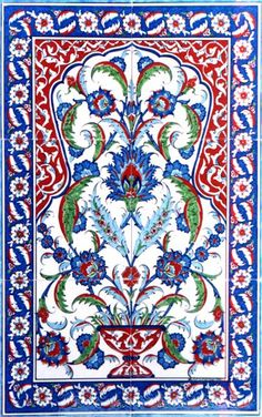 hand painted traditional Turkish Tiles Ceramic Wall art with Iznik Designs Tile Murals, Tile Art, Mosaic Art, Turkish Tiles, Turkish Art, Arabesque, Motif Oriental, Keramik Design, Art Chinois