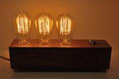 The Menlo Park - Triple Edison dimmable lamp. $180