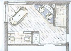 Bildergebnis für freistehende badewanne grundriss