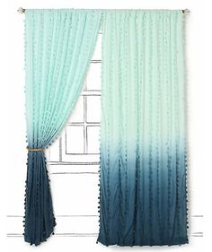 Anthropologie Wavering Ombre Curtain