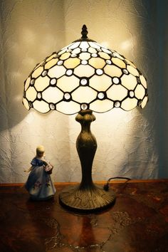 Beaded Style Museum Quality classical Tiffany bedside Lamp