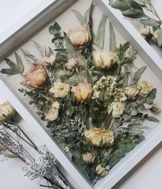 Do you have a dried bridal bouquet gathering dust in your house? Watch these flowers be turned into a dried wedding bouquet shadow box! Bouquet Shadow Box, Flower Shadow Box, Diy Shadow Box, Bouquet Box, Shadow Box Wedding, Bouquet Holder, Diy Bouquet, Flower Frame, Tropical Wedding Bouquets