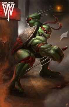 Raphael (Raph) - Teenage Mutant Ninja Turtles - 11 x 17 impresión Digital