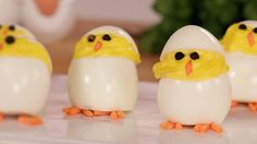 Hatch These Deviled Egg Chicks For Easter!: These hatching chick deviled eggs are the perfect dish to serve this Spring, and once you watch this video, you'll learn how easy they are to make.