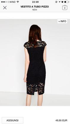 Zara SS16 - black lace dress